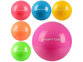 Гімнастичний м'яч фітбол для фітнесу Profi MS 0382 - 65 см (6 кольорів)
