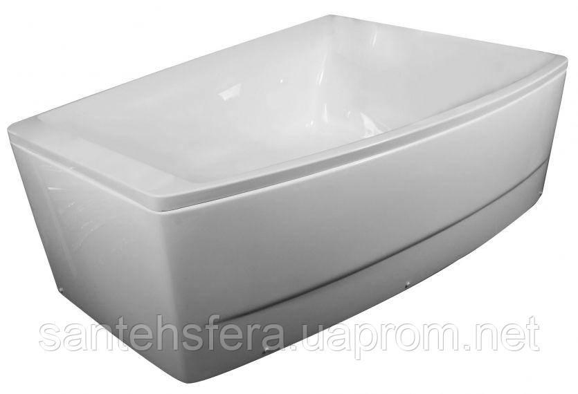 Акриловая асимметричная ванна Volle TS-100/R правосторонняя