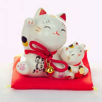 Манеки-неко «Кошка и котёнок», фото 1