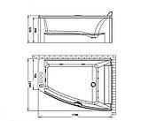 Акриловая асимметричная ванна Volle TS-100/R правосторонняя, фото 2