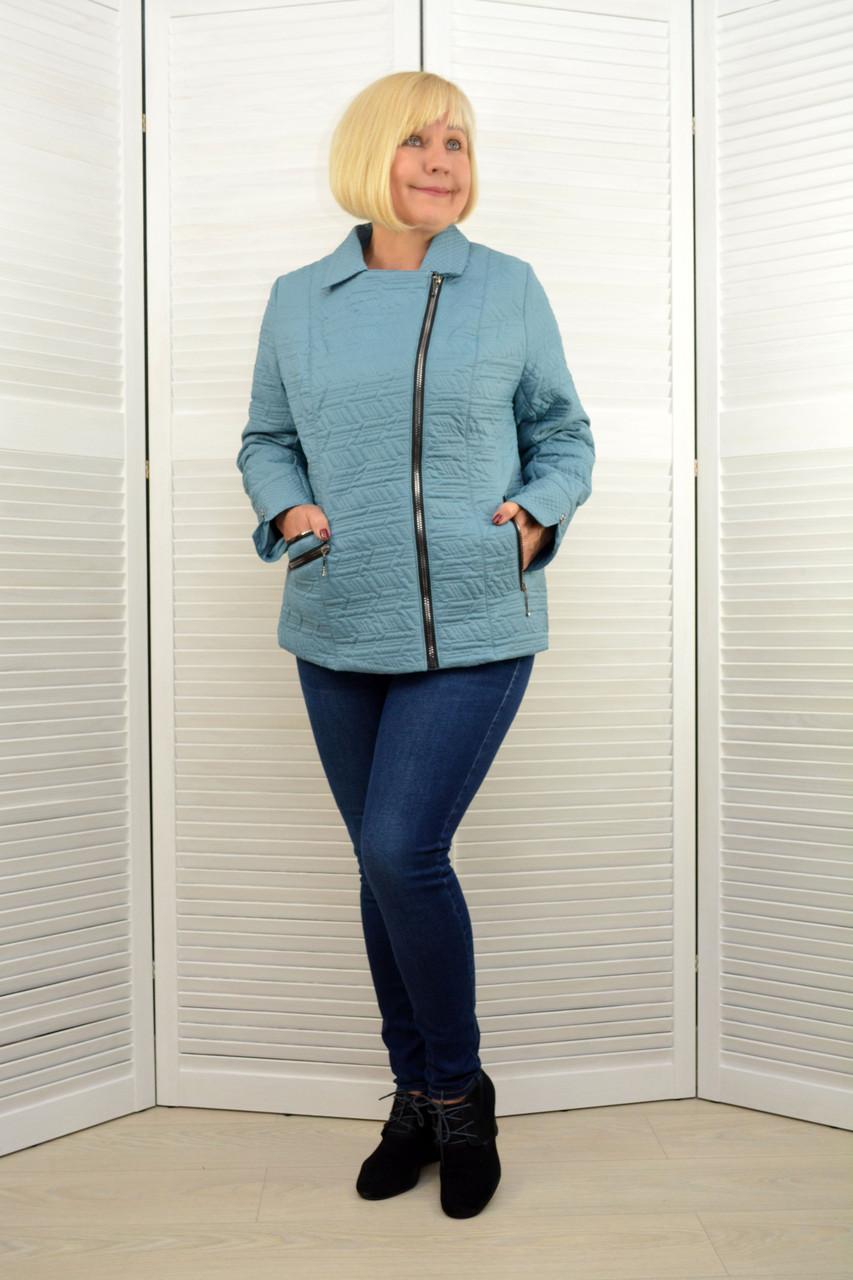 Куртка на молнии бирюза - Модель Х13