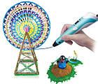 3D-ручка для рисования с LCD дисплеем Smart 3D pen-2 голубая (синяя), 3Д-ручка с экраном второго поколения, фото 10
