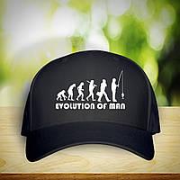 """Кепка (бейсболка) с принтом """"Evolution of man"""" Push IT"""