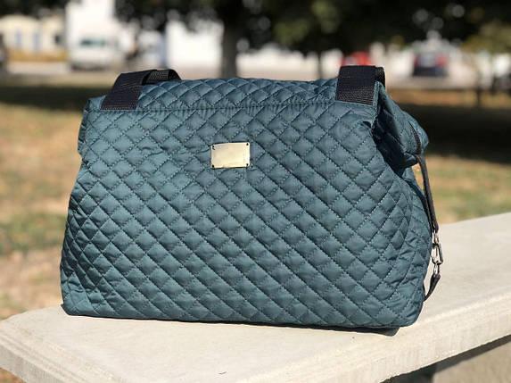 Женская сумка стеганая BR-S зеленая (1262237765), фото 2