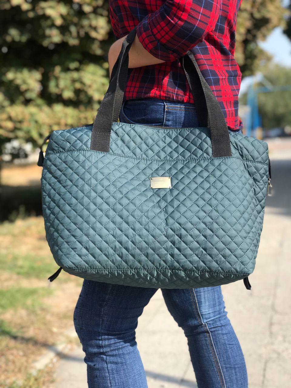 Женская сумка стеганая BR-S зеленая (1262237765)