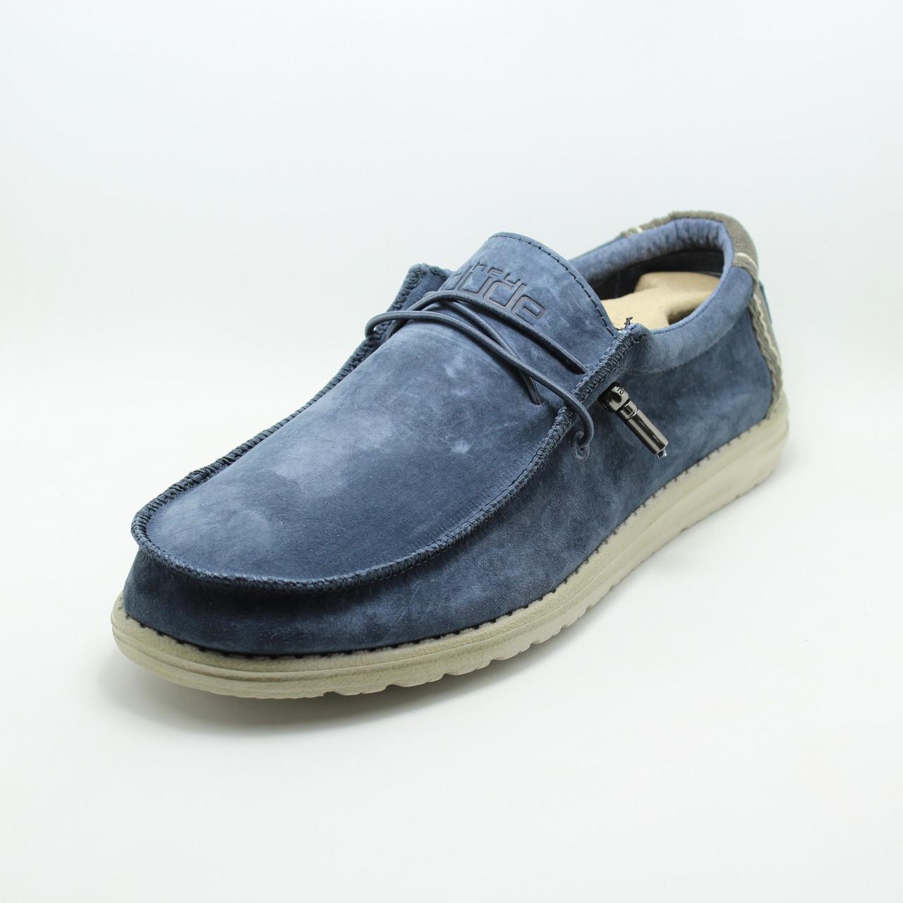 Мужские туфли топсайдеры Hey Dude 150202543 синие