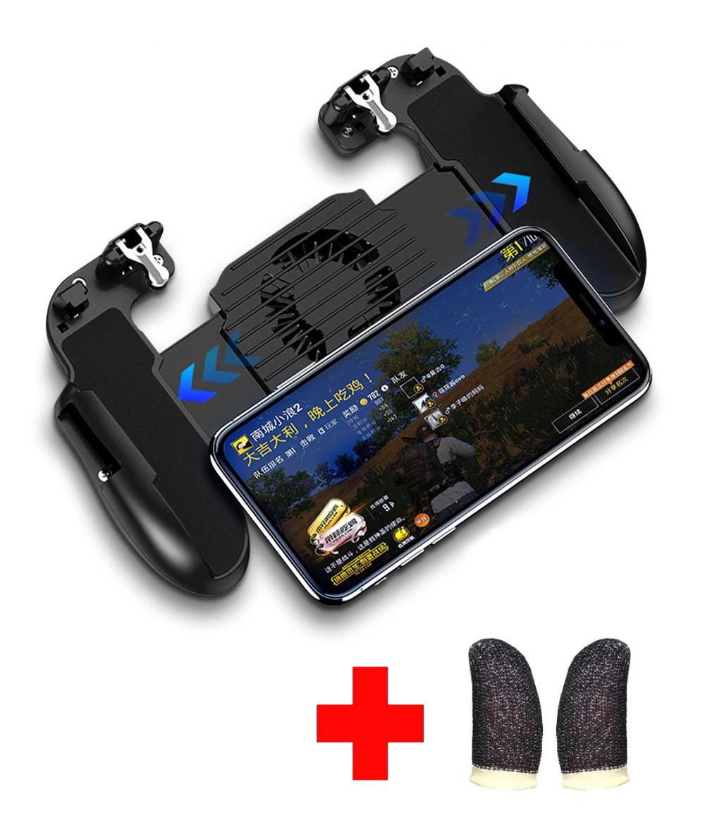 Беспроводной геймпад-триггер для смартфонов Sundy Union PUBG Mobile H5 с вентилятором и АКК