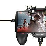 Беспроводной геймпад триггер для смартфонов Union PUBG Mobile AK77 с вентилятором и аккумулятором на 4000 mAh, фото 6