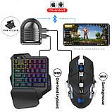Мобильный игровой Bluetooth адаптер с аккумулятором, игровой клавиатурой и мышкой Union Sundy PUBG Mobile Mix3, фото 2