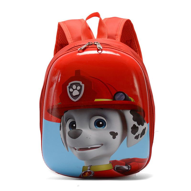 Orteker Рюкзак детский Orteker 3D дошкольный Щенячий Патруль мультяшные герои Маршал красный