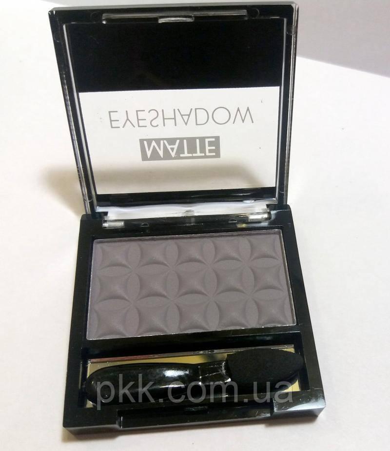 Тени для век LA ROSA MATTE Eyeshadow Professional Makeup одинарные LE-101 №08 матовые Тёмно- серые