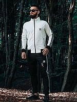Спортивный костюм Adidas в стиле Адидас, хлопок, код DD-6. Черный c белым( S, M, L, XL)