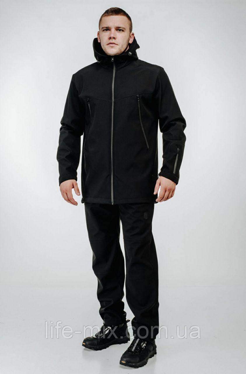 Демисезонный мужской костюм ULTIMATUM Soft Shell черный