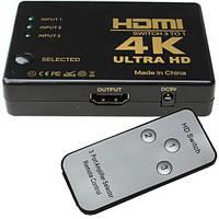Сплитер HDMI 1x3 (3гн.HDMI - 1гн.HDMI) c пультом, HDMI Switch 3 port: HDMI