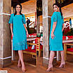 Платье с цветочным узором большого размера, размеры 56, 58, 60, 62, фото 2