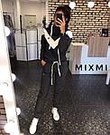 Женский спортивный костюм, турецкая трехнить на флисе, р-р 42-44; 44-46 (графит), фото 2