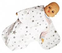 Кокон для пеленания 52*30 для новорожденных от 0-3 мес БЯЗЬ арт.8951 Лежебока,Украина