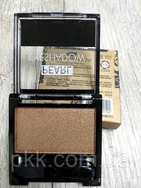 Тени для век LA ROSA MATTE Eyeshadow Professional Makeup одинарные LE-101 №19 перламутровые Золотистые