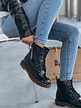 Демісезонні черевики з райдужної лакованої шкіри Dr Martens / Доктор Мартінс, фото 5