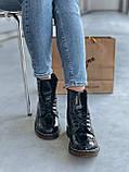 Демісезонні черевики з райдужної лакованої шкіри Dr Martens / Доктор Мартінс, фото 6