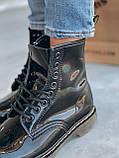 Демісезонні черевики з райдужної лакованої шкіри Dr Martens / Доктор Мартінс, фото 7