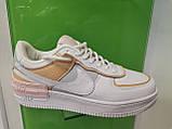Жіночі кросівки в стилі найк Air Force 1 Low White Shadow Beige, фото 2