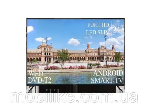 """Функциональный Телевизор Liberton 24"""" Smart-TV/Full HD/DVB-T2/USB"""
