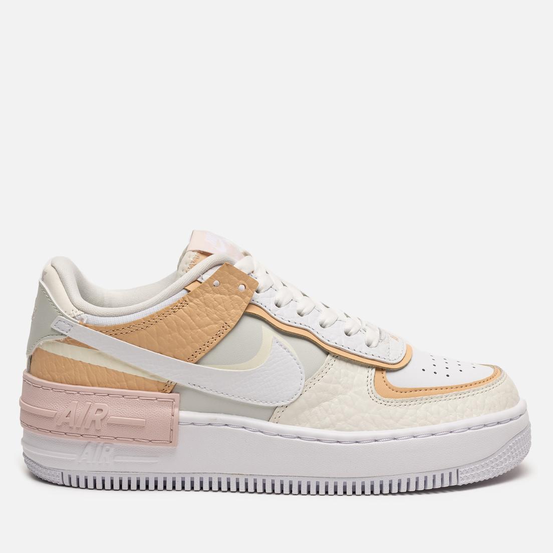 Жіночі кросівки в стилі найк Air Force 1 Low White Shadow Beige