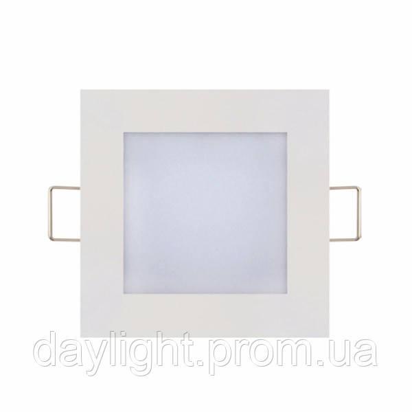 Светодиодный светильник врезной Slim/Sq-3 3W 6400К