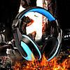 Игровые наушники Kebidu для компьютера с микрофоном (Черные с синим), фото 3