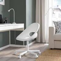IKEA LOBERGET / BLYSKAR (793.318.65) Вращающийся стул, белый офисный стул, белый/
