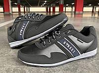 Кроссовки мужские демисезонные черного цвета 44.45 размер