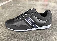 Кроссовки мужские демисезонные черного цвета 44.45 размер, фото 2