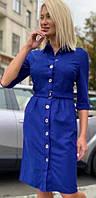 Платье рубашка замшевое 43959, фото 1