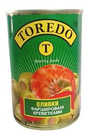 """Оливки фаршеровані креветкою """"Toredo"""" 280 г"""