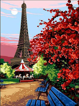 Картина по номерам 30×40 см. Babylon Эйфелева башня (VK 067)