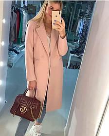 Пальто кашемировое женское, женское пальто демисезонное, Женское демисезонное пальто Пудра