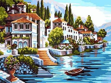 Картина по номерам 30×40 см. Babylon Итальянская Ривьера (VK 099)