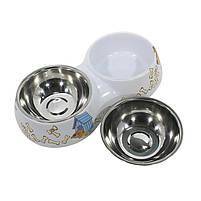 Миска для котов и собак Taotaopets WZ-1212 двойная 30*16*6 Микс, фото 2