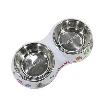Миска для котов и собак Taotaopets WZ-1010 двойная 26*13.5*4.5 Микс