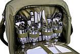Набор посуды для пикника природы рыбалки Ranger Meadow 4 персоны термоотдел 11 литров, фото 4