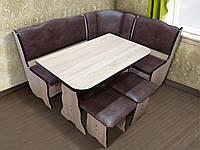 Кухонный комплект Гармония Дуб Санома. Уголок, стол, стулья