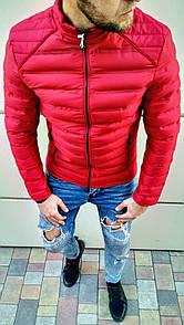 Чоловіча куртка без капюшона Червона
