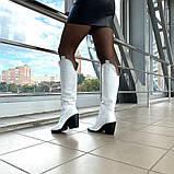 Женские зимние сапоги казаки белая кожа ТМ Bona Mente, фото 6