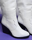 Женские зимние сапоги казаки белая кожа ТМ Bona Mente, фото 3