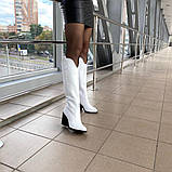 Женские зимние сапоги казаки белая кожа ТМ Bona Mente, фото 7