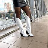 Женские зимние сапоги казаки белая кожа ТМ Bona Mente, фото 8