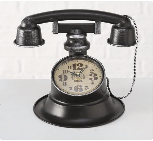 Настольные часы «Телефон Ретро» металл h21см