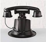 Настольные часы «Телефон Ретро» металл h21см, фото 3