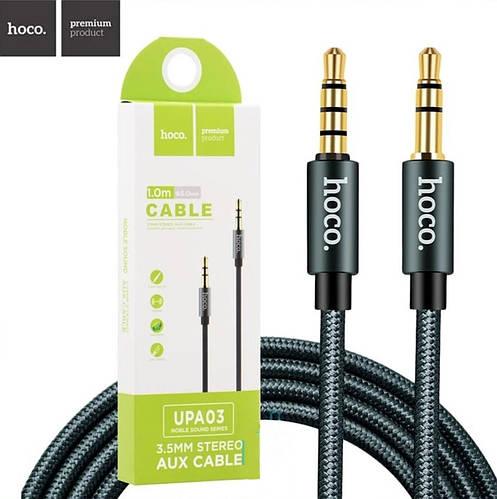Кабель AUX HOCO UPA03 Noble sound 1м